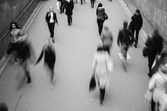 everyday (red line highway) Tags: everyday routine life traffic people motion movement street social documentary city autumn 35mm nikon stpetersburg russia   photography blackandwhite monochrome downtown