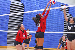 IMG_3049 (SJH Foto) Tags: girls volleyball high school mount olive mt team tween teen teenager varsity net battle spike block action shot jump midair