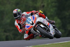 Maximum lean...Bradley Ray wins both of his Cadwell races (PSParrot) Tags: bradleyray maximum leanbradley ray during supersport practice cadwell park 28th aug 2016