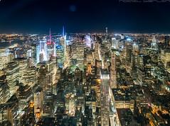 Empire at night (noaxl.berlin) Tags: manhatten sony a7rii samyang rokinon walimex 14mm newyork ny architektur architecture skyscraper night empirestatebuilding lights