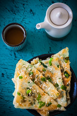 spring onion pancakes (lei_auckland) Tags: springonionpancakes springonion pancakes chinese chinesefood breakfast vegeterian chinesepancakes