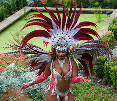 Feather Dancer (McTumshie) Tags: hornimanbrazil 20160904 hornimancarnival hornimanmuseum london parasoschoolofsamba carnival costumes dance dancing england unitedkingdom londonist