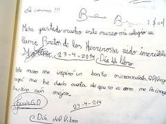"""""""Me ha gustado mucho este museo, mi colegio se llama Bretn de los Herreros ha sido increble"""" Marina 23/4/2014 (Museo del Romanticismo) Tags: museo del romanticismo siglo xix firmas libro de visitas pblico"""