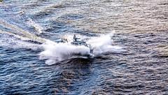 Splash down (-gregg-) Tags: splash water police evening harbor
