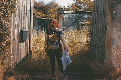 Abandoned Farmerhouse (Carina Aurora in Wonderland) Tags: cottage farm farmerhouse country countryside nature vsco redhead curls backpack map art door abandoned explore exploring wanderlust canon gril girl portrait