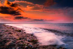 Red Sunset (Ravi Mehla) Tags: sun sunset ocean night scusset nikon sigma ma massachusetts usa sky cloud clouds wave splash rocks sand beach shore sea ngc