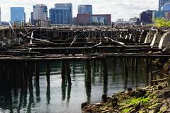 Future's Past, Boston MA (Boston Runner) Tags: eastboston harborwalk massachusetts 2016 tour bostonhabornow skyline harbor boston decay crumbling remains pierspark skyscrapers