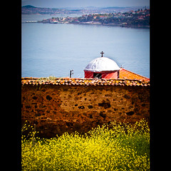 120/366: Istanbul (nyah74) Tags: flowers sea 120 church water stone wall turkey islands cross stones trkiye istanbul christian trkei christianity heybeliada day120 marmara halki greekorthodoxchurch princeislands chriscross 366days 120366