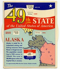 The 49th State of the United States of America (Alan Mays) Tags: old newyorkcity flowers blue red food usa white chicago ny newyork canada yellow alaska vintage buildings ads advertising stars bread hawaii illinois asia unitedstates cole pennsylvania circles stripes maps unitedstatesofamerica wheels cities ak patriotic charts il ephemera juneau pa ill pacificocean 49 1950s round 1958 data hi keystone honolulu states domes advertisements information fortynine publishing harrisburg circular shields capitals companies disks publishers nicknames arcticocean advertisers dauphincounty populations volvelles wheelcharts capitalbakers mmcole capitalbread specialtyadvertisingservice