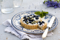 Berry, ricota and cream dessert (Tasty food and photography) Tags: dessert berry cream blueflowers foodphotography ricota foodstyling