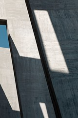 Fernando Moreno Barber. Cheste university #9 (Ximo Michavila) Tags: blue shadow sky sunlight abstract building geometric valencia lines architecture concrete spain university graphic perspective cheste architecturephotography archidose archiref ximomichavila