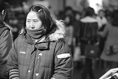 Adjuma in Myeongdong (CyprienR) Tags: blackandwhite korea seoul 2012 myeongdong coreenne
