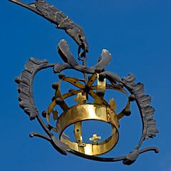 Eagle and Crown (hogsvilleBrit) Tags: sign metal square gold krone stuttgart crown beutelsbach hotelkrone