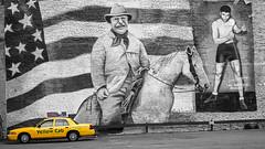 Taxi To The Past (glness) Tags: colorado taxi yellowcab denver teddyroosevelt selectivecolor jackde