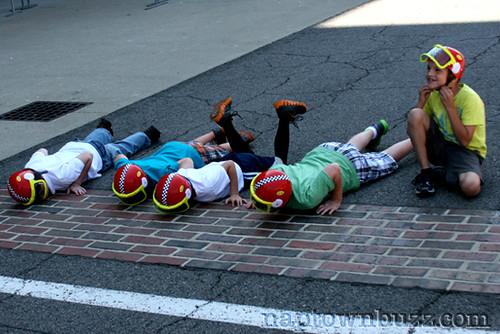 """Indy 500 2012 Practice 6: Kids Kissing The Bricks • <a style=""""font-size:0.8em;"""" href=""""http://www.flickr.com/photos/78612590@N05/7217041186/""""  on Flickr</a>"""