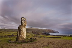 Monolithic Moai Statue At Ahu Tongariki, Easter Island, Chile (Eric Lafforgue) Tags: chile travel color colour history archaeology southamerica nature statue rock stone night outdoors photography polynesia ancient chili pacific nobody nopeople worldheritagesite pacificocean moai easterisland rapanui isladepascua hangaroa ahutongariki southpacificocean traveldestinations largegroupofobjects  oldruin internationallandmark ancientcivilisation polynesianculture  ili  humanrepresentation builtstructure polynesianisland moaistatues   ile    southeasternpacificocean polynesiantriangle chileanpolynesia