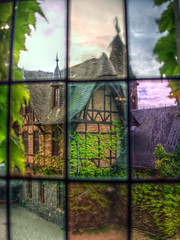 Through the window (igor29768) Tags: castle window glass germany deutschland fenster stained panasonic glasmalerei pancake 20mm leaded cochem burg mosel gf1