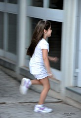 running to life - Greece (dimitra_milaiou) Tags: world life city school portrait people white motion love girl smile sport shirt kids hair t nikon shoes europe long child play action d joy happiness running athens greece future effort pure 90 katerina dimitra d90       milaiou