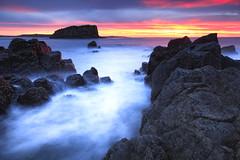 Rangoon Island (stevoarnold) Tags: sea sunrise rocks australia nsw kiama minnamurra illawarra minnamurrariver stackisland rangoonisland