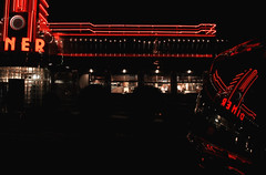 Diner (ftoomschb) Tags: park county red ny black reflection night neon sony diner hyde valley americana hudson alpha dslr dutchess eveready a700