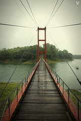 the hanging bridge on kaptai lake (HasinHayder) Tags: bridge river structure bangladesh rangamati hangingbridge kaptai
