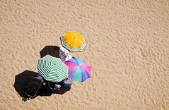 birdseye view (thermophle) Tags: california shadow santacruz beach umbrella sand boardwalk birdseye