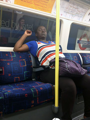 That Monday feeling.... (tezzer57) Tags: people london candid londonunderground londontube passenger northernline londonist londontube150