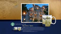 Starbucks City Mug Barcelona Desktop Wallpaper (Magic Ketchup) Tags: barcelona spain collection starbucks mug desktopwallpaper citymugs 2008series