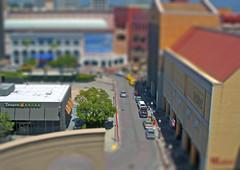 Panera in Miniature (Kevin MG) Tags: architecture buildings sandiego gaslamp panera tiltshift tiltshiftmaker