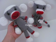 Sock Monkey Sack Doll (Sharon Ojala's Flickr) Tags: movie doll pattern crochet free amigurumi sackboy crochetsockmonkey