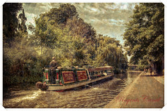 Vintage Postcard (Stephen Champness) Tags: people water vintage boat canal postcard sony adobe alpha narrow app regents lightroom 100cameras ipad a290 photomatix