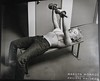 Photo of Marilyn Monroe by Philippe Halsman (FranMoff) Tags: marilyn bench jeans monroe weights halsman bikinitop