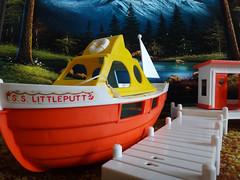 Retro Beach (No.1) (Geoffery Kehrig) Tags: camp kitsch retro 70s weebles velvetpainting parentsbasement 70scarpet weebleset weeblesmarinaset myfave myfave2012