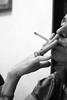 (Maieutica) Tags: bw woman muro face wall mouth nose donna hand cigarette smoke watch fingers bn smoking ring mano orologio bocca viso dita naso fumo fumare sigaretta anello volto polso