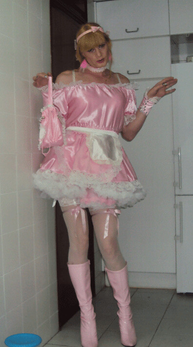 image Maid outfit and latex gloves