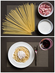 Carbonara: the making of (afgomez) Tags: food pasta carbonara tallarines