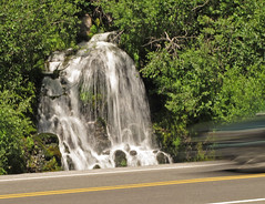 roadside waterfall at Mt Hood