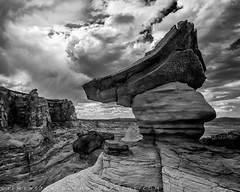 Storm Receiver - Page, Arizona (Jim Patterson Photography) Tags: arizona nature rock clouds landscape day desert page cumulus formations hoodoos jimpattersonphotography studhorsepoint jimpattersonphotographycom seatosummitworkshops seatosummitworkshopscom