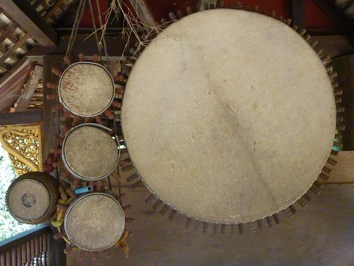 056 Drums, Wat Phra Putthabat Tak Pha, Lamphun