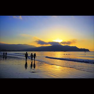 Walking on the beach at sunrise [ EXPLORED ]