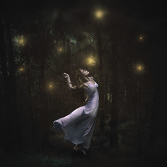 The Dance (Explored!) (Shelby Robinson) Tags: trees light portrait girl leaves forest self canon rebel 50mm woods long dress 14 ground deer dirt rabid teenage fireflies t1i