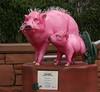 Pink Hairalinas (lynne_b) Tags: pink vacation arizona sky mountains west nature statue landscape pig mainstreet sedona landmark spines hog reddirt havalinas july2012 pinkhavalina