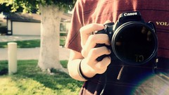 Before I got my own Canon DSLR camera. (ajayleno) Tags: pictures camera old blue light red orange brown white black blur color colour green slr colors monochrome yellow digital speed canon vintage point photography eos rebel grey photo high cool focus soft shoot colours purple bright photos bokeh gray hipster picture indigo blurred sharp indie shutter dslr electronic focused compact watermark t3i abberation 600d xti 400d