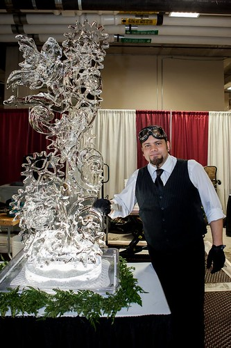 Steampunk Ice Sculpture at the Reinhart Ice Sculpting Classic 2012 at the Potawatomi Casino in Milwaukee (First Place) Ice Sculptures