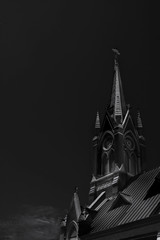 St. Matthew Roman Catholic Church (HacksawGeneDuggan) Tags: gothic church architecture architectural bnw bnwarchitecture blackandwhite blackandwhitearchitecture blackandwhitefineartarchitecture fineart art fineartarchitecture monroelouisiana monroe westmonroelouisiana louisiana shadows dark highconstrastphotography contrast highcontrast monochrome canon canon40d canon2870f3545ii 40d