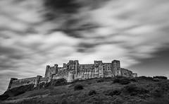 Bamburgh Castle (Daniel Zwierzchowski) Tags: bamburgh castle england uk gb black blackandwhite bw architecture architektura monochrome clouds natgeo ndfilter nd travel natgeotravel outdoor