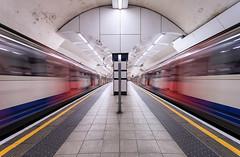 Coming & Going (baltibob) Tags: arrival blur city departure londonunderground movement station subway symmetry train tube undergoundmmetro motion urban london england unitedkingdom