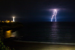 Lightning (Romain Archimbaud) Tags: clairs lighthouse plage anglet basquecountry nature lightning storm orages nightsky paysbasque phare