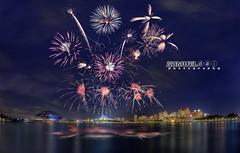 NDP 2016 Fireworks #7 - 23rd July 2016 (Samuel.Dai) Tags: nationalday parade ndp singaporeindependence 2016 fireworks nationalstadium singaporeriver tourism touristattraction lowlightphotography cityscapephotography skyline longexposurephotography nikon d800 15mm fisheye hdr samueldai