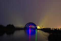 Falkirk Wheel (reiver iron - RMDPhotos.co.uk) Tags: falkirk wheel caledonian canal lock night illuminated light scotland